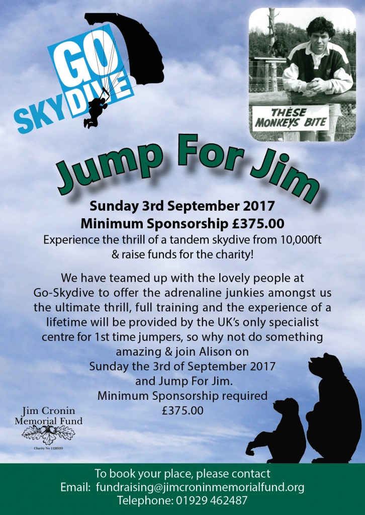 JIM CRONIN JUMP FOR JIM ADVERT
