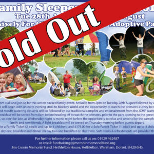 Family Sleepover Event sold out