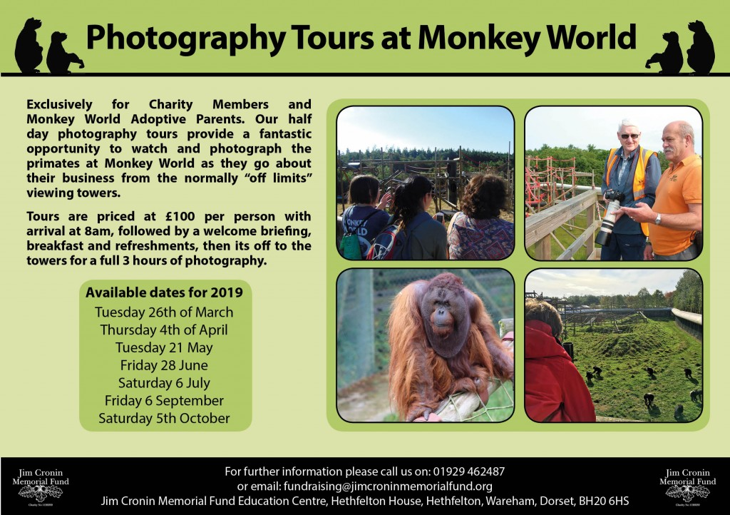 photography tours at Monkey World 2019