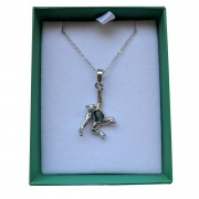 chimp necklace in box