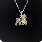gorilla necklace closer