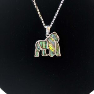 gorilla necklace closer