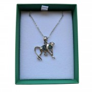 monkey necklace in box