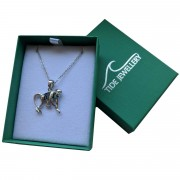 monkey necklace in box with lid