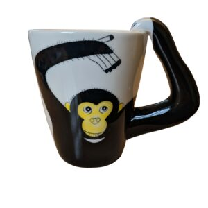 Chimp arm handle mug front
