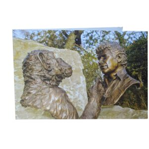 jim and charlie statue greetings card